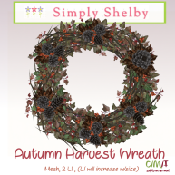 Simply Shelby Autumn Harvest Wreath