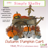 Simply Shelby Autumn Pumpkin Cart Orange