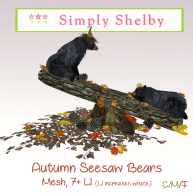 Simply Shelby Autumn SeeSaw Bears
