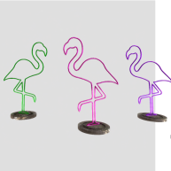 Simply Shelby neon flamingos
