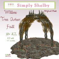 Simply Shelby Willow Tree Arbor Fall