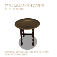 TableMarrakeshCopper