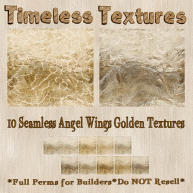 TT 10 Seamless Angel Wings Golden Timeless Textures
