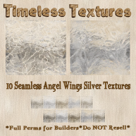 TT 10 Seamless Angel Wings Silver Timeless Textures