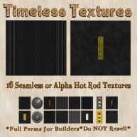 TT 16 Seamless or Alpha Hot Rod Timeless Textures