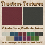 TT 18 Seamless Steering Wheel Leather Timeless Textures