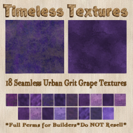 TT 18 Seamless Urban Grit Grape Timeless Textures