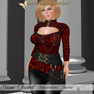35L DPB Diane Jacket - Leopard Red