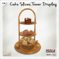 AD Cake slices tower display