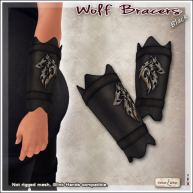 AD Wolf Bracers Black