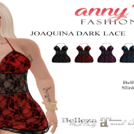 AF] Joaquina Dark Lace Halter Mini Dress