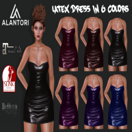 ALANTORI - Latex Dress in 6 Colors