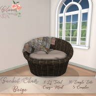Bloom! - Bucket Chair BeigeAD