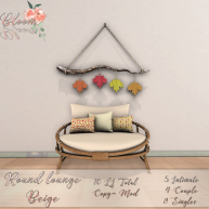 Bloom! - Round lounge BeigeAD