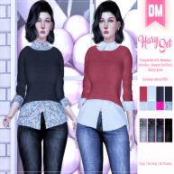 DM__ Hary Set - Sweater And Shirt Skinny Jeans Only Maitreya