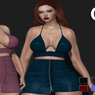 [DR] OUTFIT 114 HUD 10 COLORS __MESH__