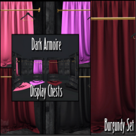ELTD Dark Armoire Display Chests - Burgundy PIC
