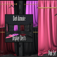 ELTD Dark Armoire Display Chests - Pink PIC