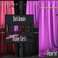 ELTD Dark Armoire Display Chests - Purple PIC