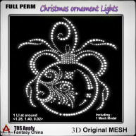 FC- Full Perm Mesh Christmas ornament Lights B