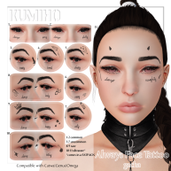 .[ KUMIHO ]. Always Face Tattoos Gacha Key