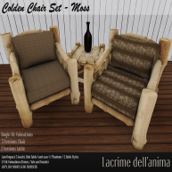 (PIC) Colden Chair Set - Beige