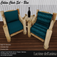 (PIC) Colden Chair Set - Blue