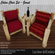 (PIC) Colden Chair Set - Garnet