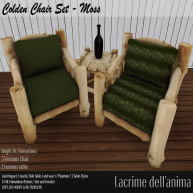 (PIC) Colden Chair Set - Moss