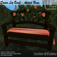 (PIC) Dream Log Bench - Apricot Roses