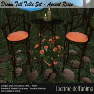 (PIC) Dream Tall Table Set - Apricot Roses