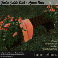 (PIC) Garden Cuddle Bench - Apricot Roses
