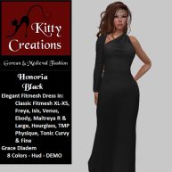 PIC Honoria - Black - Kitty Creations