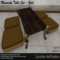 (PIC) Monarchy Table Set - Gold