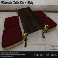 (PIC) Monarchy Table Set - Ruby