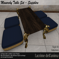 (PIC) Monarchy Table Set - Sapphire