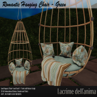(PIC) Romantic Hanging Chair - Green