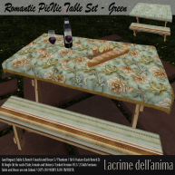 (PIC) Romantic PicNic Table Set - Green