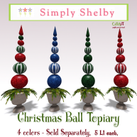 Simply Shelby Christmas Ball Topiary ad all colors