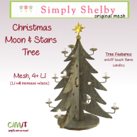 Simply Shelby Christmas Moon & Stars Tree