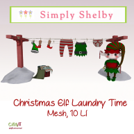 Simply Shelby Elf Laundry Time