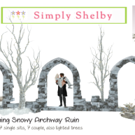 simply shelby Glistening Archway & Winter Stags