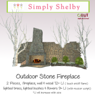 Simply Shelby Outdoor Stone Fireplace