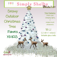 Simply Shelby Outdoor Xmas Tree Fawns