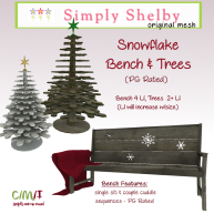 Simply Shelby Snowflake Bench & Trees