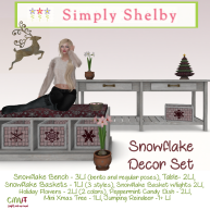 Simply Shelby Snowflake Decor Set