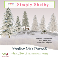 Simply Shelby Winter Mini Forest