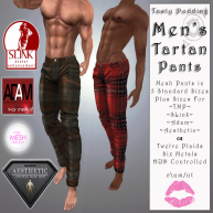 Tasty Pudding - Men's Tartan Pants Main Board