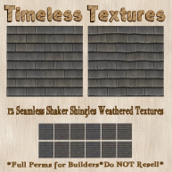 TT 12 Seamless Shaker Shingles Weathered Timeless Textures