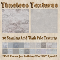 TT 20 Seamless Acid Wash Pale Timeless Textures